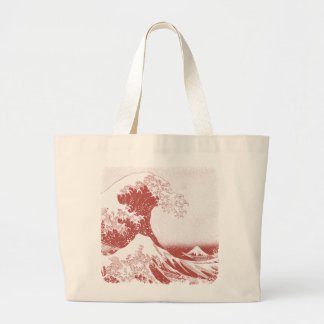 The Great Wave off Kanagawa (神奈川沖浪裏) Large Tote Bag