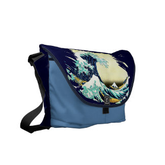 The Great Wave off Kanagawa (神奈川沖浪裏) Messenger Bag