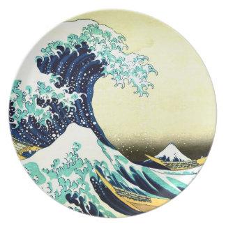 The Great Wave off Kanagawa (神奈川沖浪裏) Party Plate