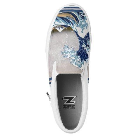 The Great Wave off Kanagawa - 神奈川沖浪裏 Slip-On Sneakers