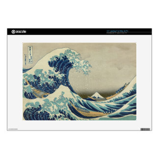 """The Great Wave off Kanagawa 15"""" Laptop Skins"""