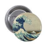 The Great Wave off Kanagawa 2 Inch Round Button