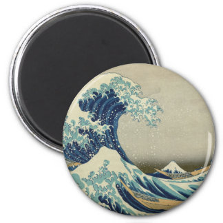 The Great Wave off Kanagawa 2 Inch Round Magnet