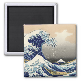 The Great Wave off Kanagawa 2 Inch Square Magnet