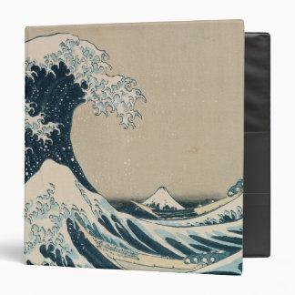 The Great Wave off Kanagawa 3 Ring Binder