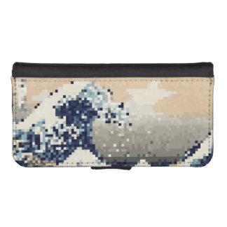 The Great Wave off Kanagawa 8 Bit Pixel Art iPhone SE/5/5s Wallet Case