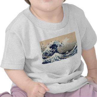 The Great Wave off Kanagawa 8 Bit Pixel Art T-shirt
