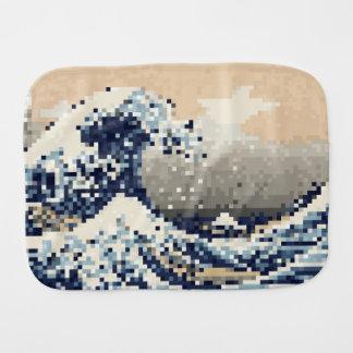 The Great Wave off Kanagawa 8 Bit Pixel Art Burp Cloths