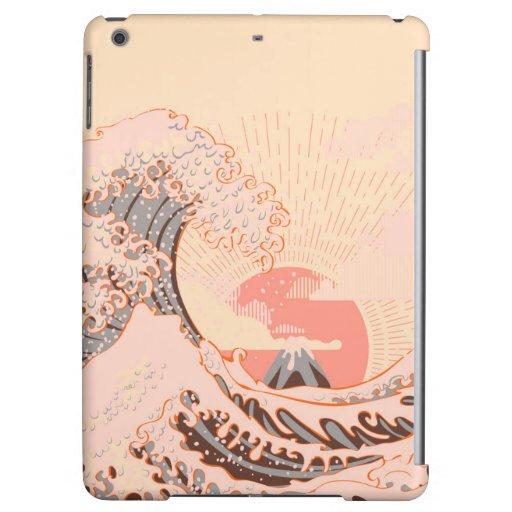 The great wave off kanagawa at sunrise case for iPad air
