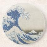 The Great Wave off Kanagawa Beverage Coasters