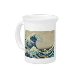 The Great Wave off Kanagawa Beverage Pitcher