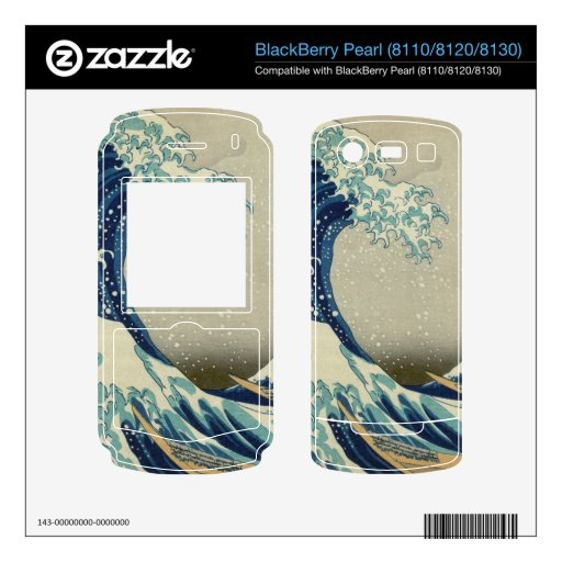 The Great Wave off Kanagawa BlackBerry Pearl Skins