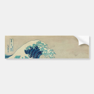 The Great Wave off Kanagawa Bumper Sticker