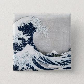 The Great Wave off Kanagawa Button