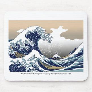 """The Great Wave off Kanagawa"" by Hokusai Mouse Pad"