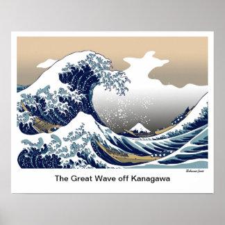 """The Great Wave off Kanagawa"" by Hokusai Poster"