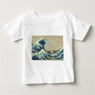 The Great Wave off Kanagawa by Katsushika Hokusai Baby T-Shirt