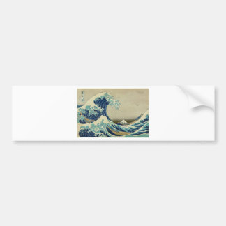 The Great Wave off Kanagawa by Katsushika Hokusai Bumper Sticker