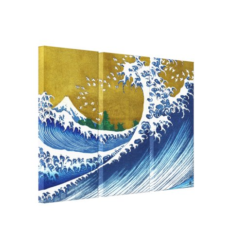The great wave off Kanagawa by Katsushika Hokusai Stretched Canvas Prints