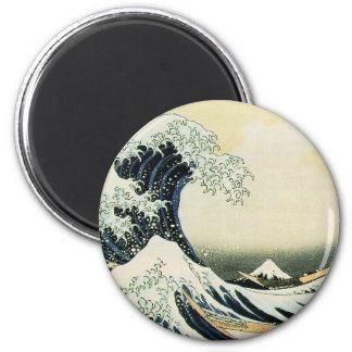 The Great Wave off Kanagawa by Katsushika Hokusai Magnets