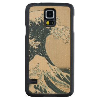 The Great Wave off Kanagawa Carved Maple Galaxy S5 Slim Case