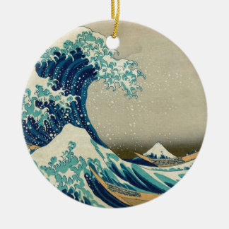 The Great Wave off Kanagawa Ceramic Ornament