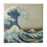 """The Great Wave off Kanagawa Ceramic Tile<br><div class=""""desc"""">The Great Wave Tile. The Great Wave off Kanagawa, also known as The Great Wave or simply The Wave, is a woodblock print by the Japanese artist Katsushika Hokusai. Example of ukiyo-e art, it was published sometime between 1830 and 1833 as the first in Hokusai&#39;s series Thirty-six Views of Mount...</div>"""