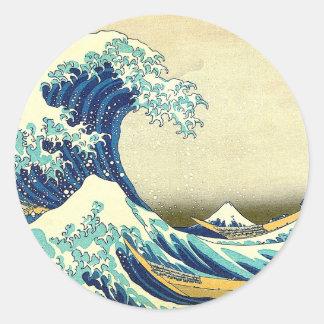 """The Great Wave Off Kanagawa"" Classic Round Sticker"