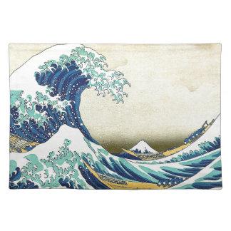 """The Great Wave Off Kanagawa"" Cloth Placemat"