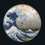 "The Great Wave Off Kanagawa Dartboard<br><div class=""desc"">Vintage Japanese art The Great Wave off Kanagawa or the wave ..  stunning artwork in ukiyo-e style by a great master Katsushika Hokusai ..  vintage art on modern day products from Zazilicious</div>"