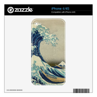 The Great Wave off Kanagawa Decal For The iPhone 4