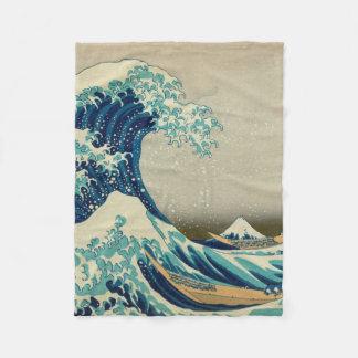 The Great Wave off Kanagawa Fleece Blanket