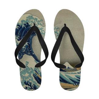 The Great Wave off Kanagawa Sandals