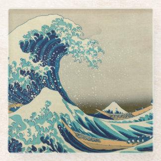 The Great Wave off Kanagawa Glass Coaster