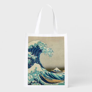The Great Wave off Kanagawa Grocery Bag