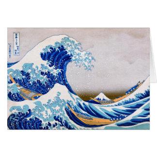 The Great Wave off Kanagawa, Hokusai Card