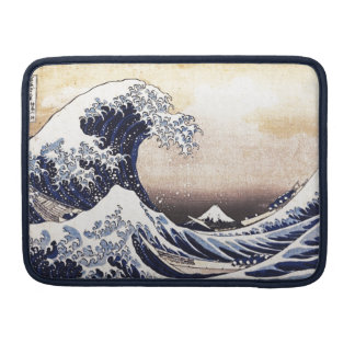 The Great Wave Off Kanagawa Hokusai Japanese Art Sleeve For MacBook Pro