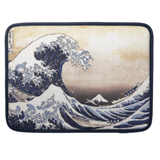 The Great Wave Off Kanagawa Hokusai Japanese Art Sleeves For MacBook Pro