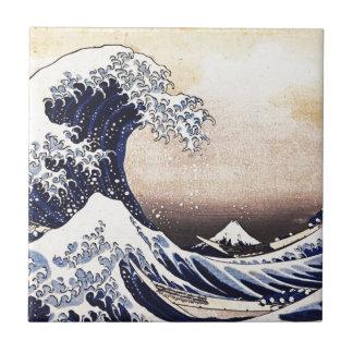 The Great Wave Off Kanagawa Hokusai Japanese Art Tiles
