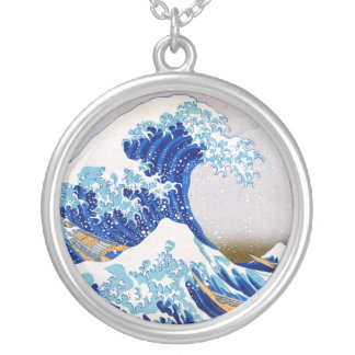 The Great Wave off Kanagawa, Hokusai Silver Plated Necklace
