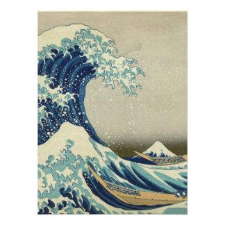 The Great Wave off Kanagawa Invitation