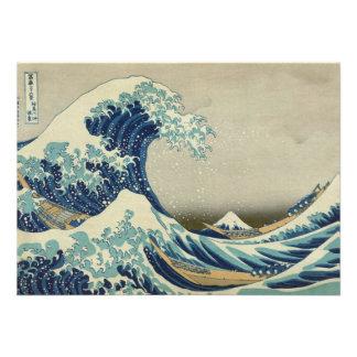The Great Wave off Kanagawa Custom Announcement
