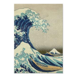 The Great Wave off Kanagawa 3.5x5 Paper Invitation Card