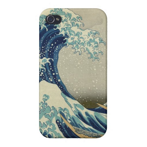 The Great Wave off Kanagawa iPhone 4 Cases