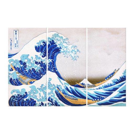 The Great Wave off Kanagawa, katsushika Hokusai Canvas Print