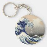 The Great Wave off Kanagawa Basic Round Button Keychain