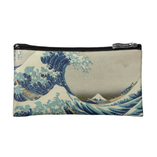 The Great Wave off Kanagawa Makeup Bag