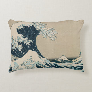 The Great Wave off Kanagawa Accent Pillow