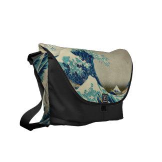 The Great Wave off Kanagawa Messenger Bags