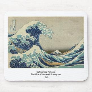 The Great Wave off Kanagawa Mousepads